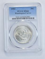 MS66 1954 Washington-Carver Commemorative Half Dollar - Graded PCGS