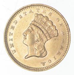 1860-S $1.00 Indian Princess Head Gold - Type 3