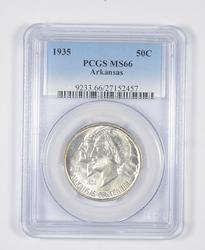 MS66 1935 Arkansas Centennial Commemorative Half Dollar - Graded PCGS