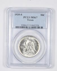 MS67 1935-S Texas Independence Commemorative Half Dollar - Graded PCGS