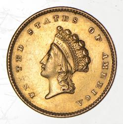 1854 $1.00 Indian Princess Head Gold - Type 2