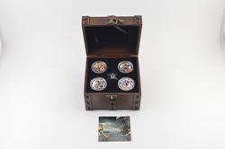 2011 Niue $2 1 Oz .999 Fine Silver - 4 Coin Set - Fancy Display & COA
