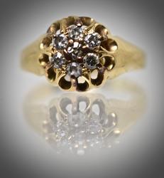 Precious Little Vintage 18K Diamond Ring
