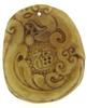Jade Carved Nephrite Tiger Blessing FU Character Pendant