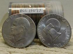 1976 roll (20) Eisenhower (Ike) Dollars, circ. BiCenten