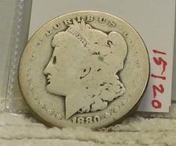 1880-S Morgan Dollar, circulated