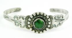 Early N.A. Indian Sterling Cuff Bracelet, Small Wrist