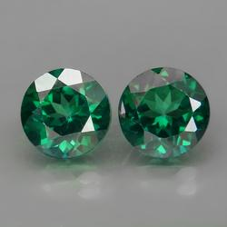 Glittering 5.10ct emerald green Mystic Topaz pair