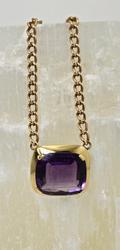 Bold 14K Amethyst Necklace