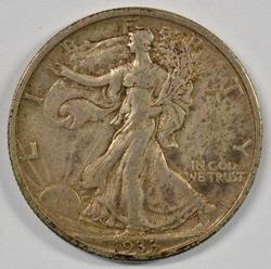 Choice original XF 1933-S Walking Liberty Half Dollar