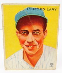 Lynford Lary, Yankees 1933 Goudey Gum Baseball Card