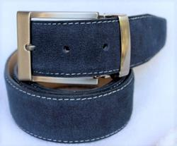 Classy Fine Quality Suede Belt, Made In Italy