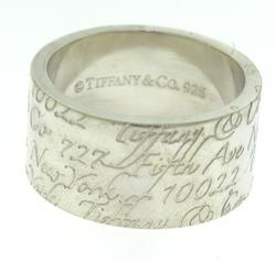 Tiffany & Co Notes Band in Sterling Silver