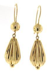 Cute 14kt Yellow Gold Dangle Earrings