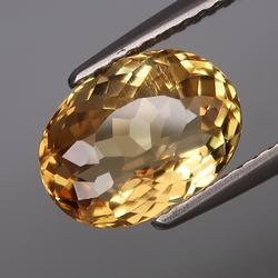 Rich 2.54ct unheated Heliodor Beryl