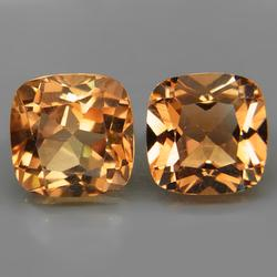 Gorgeous 7.98ct pair of Imperial Topaz