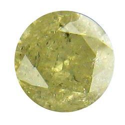 Glittering .28ct yellow tinted Diamond
