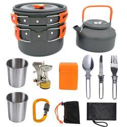 10PCS Ultra-light Aluminum Alloy Camping Cookware