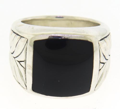 David Yurman Onyx Chevron Signet Ring