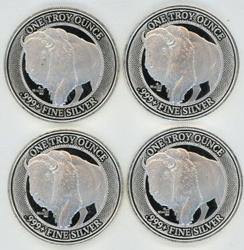 4 Special NFC Chip Verified 1 oz. Pure Silver Rounds