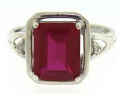 925 Sterling Silver Gemstone Ring