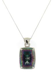 Shimmering Mystic Quartz & Diamond Accent Pendant