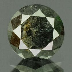 Shimmering .94ct untreated black Diamond