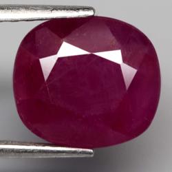 Glistening violet red unheated 5.91ct Ruby