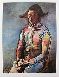 Pablo Picasso, Seated Harlequin