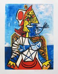 Pablo Picasso, Woman With Red And White Hat