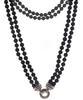 Judith Ripka Double Strand Black Onyx Necklace