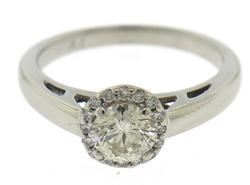 Unforgettable Platinum .85ctw Diamond Engagement Ring