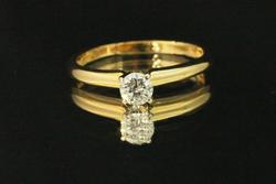 Sparkling Diamond Solitare in 14k