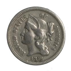 1879 Better Date 3 Cent Nickel
