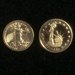 24 K St Gaudens & Liberia $10 Statue of Liberty Gold