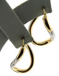 Beautiful Wavy Hoop Yellow Gold Earrings