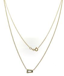 Timeless 18kt Tapered Baguette Cut Diamond Necklace