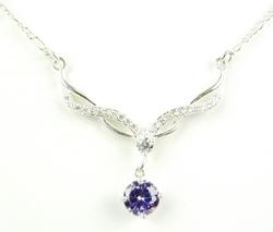 Pretty Sterling CZ Necklace