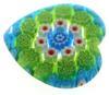 Murano Glass Heart Shaped Gemstone