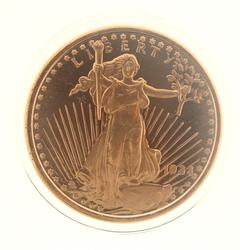 1933 1oz Round Liberty Fine Copper Bullion