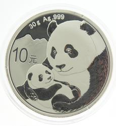 2019 China 10 Yuan Silver Panda in Mint Capsule