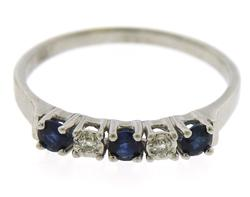 Exciting Blue Sapphire and Diamond Cocktail Ring