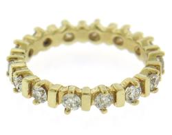 Elegant .85ctw Diamond Eternity Band in Yellow Gold