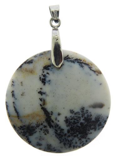 White Gold Plated Gemstone Pendant