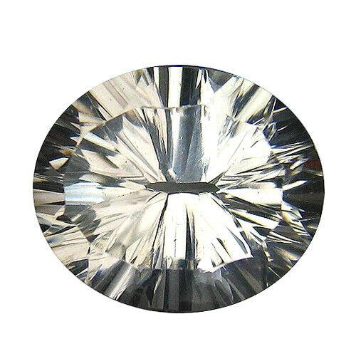 Stunning 4.42ct concave cut diamond white Beryl