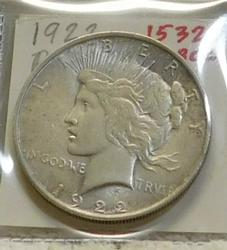 1922 Peace Dollar, circulated