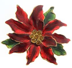 Vintage Custom Gold Plated Colored Flower Pin/Pendant
