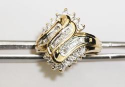 Flashy Diamond Cocktail Ring
