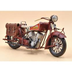 Indian Motorcycle Tinplate Antique Style Metal Model