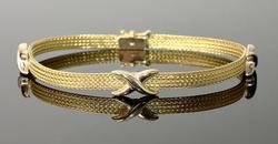 Braided Flexible 14KT Yellow Gold Bracelet